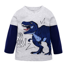 Toddler Boys T-Rex Long Sleeve Dinosaur T Shirt 2-7 Years