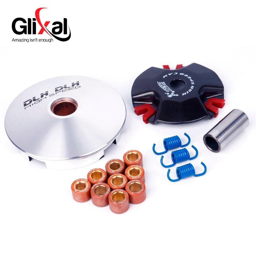High Performance DLH Variador Kit com Pesos de Rolos Polia Jog 50cc 1PE40QMB 2 MINAELLI Motor Scooter Acidente Vascular Cerebral