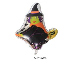 Easter ballons 1 pc witch shape foil balloons venue decorations Halloween balloon holiday inflatable ball kids toys hot sale