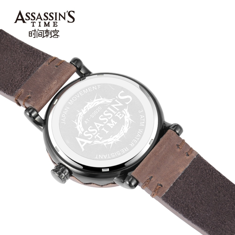 Assassin's Time Leather Band Watch meeste top brändi luksuslik - Meeste käekellad - Foto 2