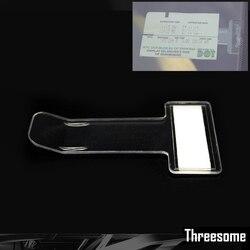 1 stücke Auto Parkplatz Ticket Halter Clip Automotive Interne Veranstalter Auto Styling Für Auto windschutzscheibe Verschluss Aufkleber