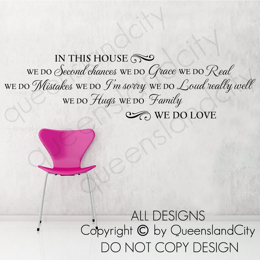 Room vinyl wall decal house rules in this house we do love quote room vinyl wall decal house rules in this house we do love quote lettering mural wall sticker family room home decoration in wall stickers from home amipublicfo Choice Image
