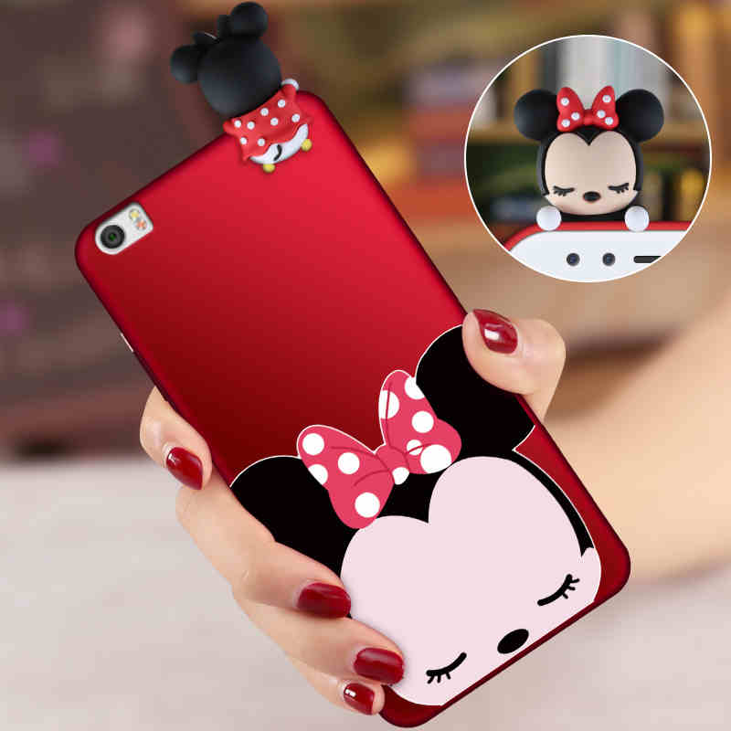 For Xiaomi mi Note 2 Cute Mickey Minnie Mouse 3D phone Case For Xiaomi mi Note / Note 2 Cartoon soft silicone back cover+Strap