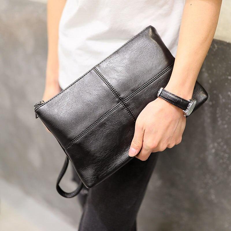 GroßZüGig Neue Männer Pu Leder Gitter Figur Mode Handtasche Kupplung Tasche Freizeit Datei Paket Handtaschen Singles Schulter Aktentasche Tasche