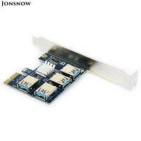 PCIE To 4 PCIE Riser Card External Internal 1 To 2 PCI Express PCI E 1X