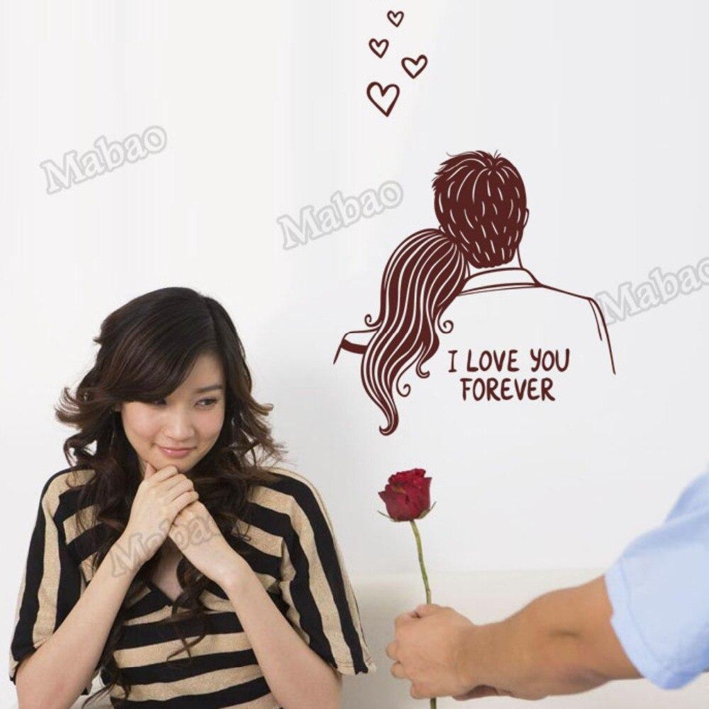 Fantastic Wallpaper I Love You Cartoon - Mabao-1pcs-Cartoon-Wedding-Room-Wall-Sticker-I-Love-You-Forever-Removable-Wall-Poster-DIY-Wallpaper  2018_24513   .jpg