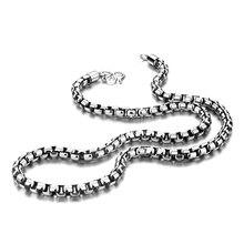 Genuine Retro Thai Silver Men Pendant Necklace Fashion Solid 925 Silver 6 mm 61cm Box Necklace Sterling Silver Men Jewelry Gif