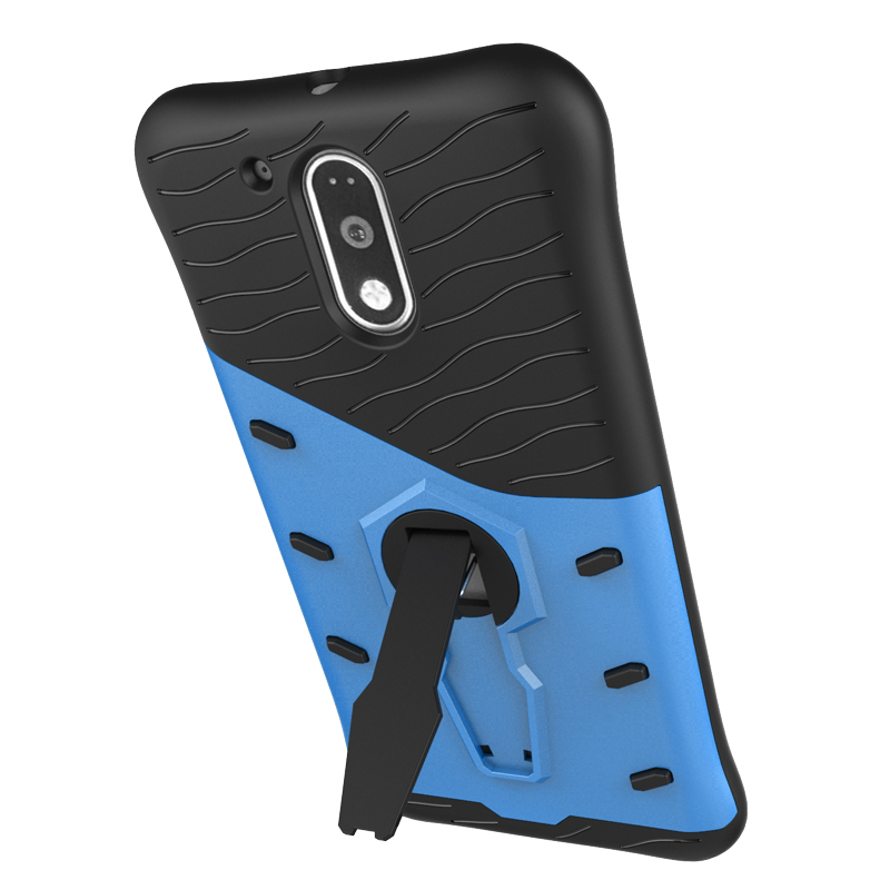 For Motorola Moto G4 Plus Case Quality Hard PC and TPU Hybrid Armor Back Cover 360 Rotating Kickstand Phone Cases For G4 Play