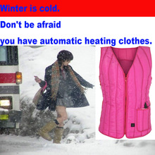 new outdoor Women Fashion Automatic heating Winter Hooded pretty Cardigan Coat Sweater Tops Hoody Jumper