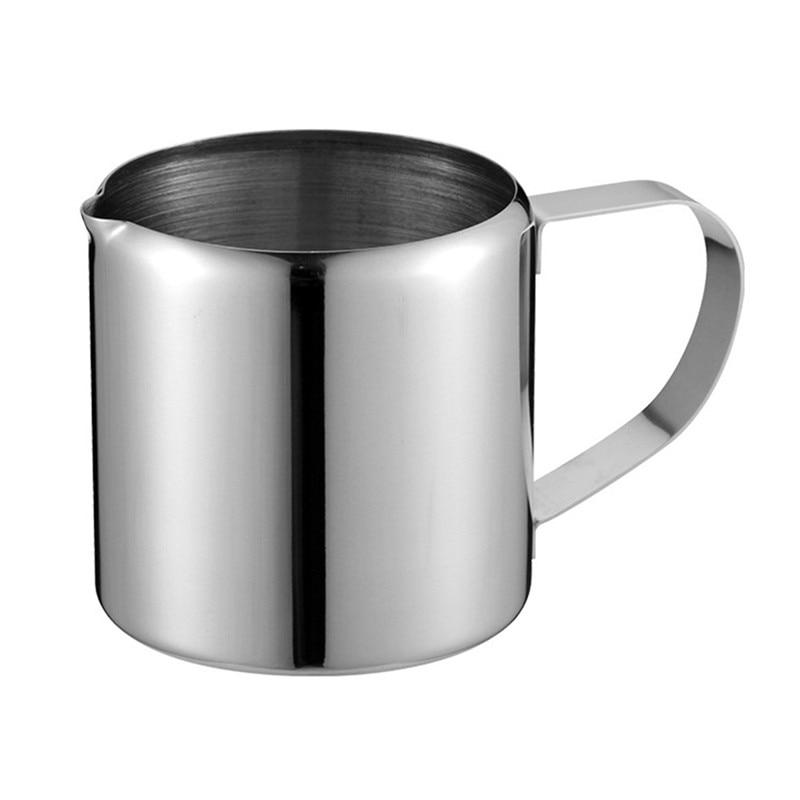 SEAAN European Style Flower Milk Cup Multi-standard Stainless Steel Coffee Machine Sumas Milk Cup Milk Tank Milk Pot Coffe Tools