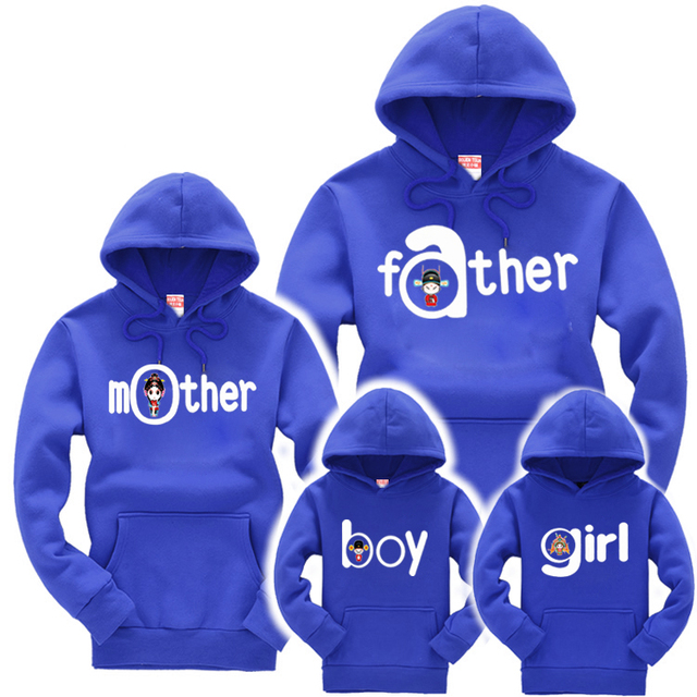 New Autumn Brand Family Matching Outfits Boys Girls Long Sleeve Hoody Shirts Parent-Child Clothes Mom Son Dad Family Clothing