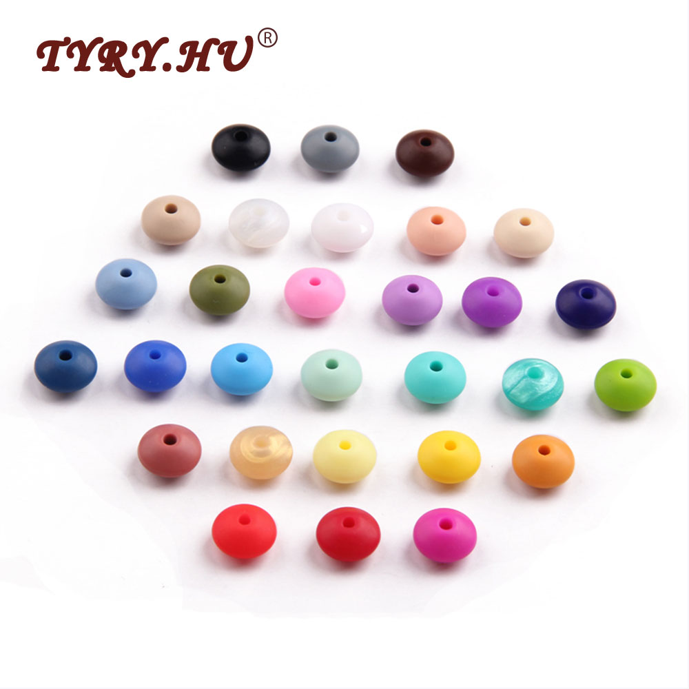 TYRY.HU 100pc Silicone Teething Bead DIY Baby Teether