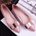 Free shipping 2014 new Korean solid OL fashion pointed toe women's shoes ladies single shoes women elegant bow flats