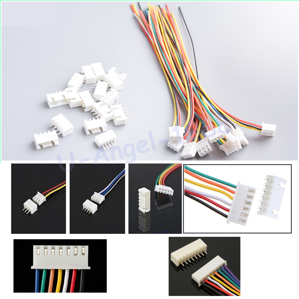 10 Pairs/lot 150mm RC lipo battery balance charger plug 2S1P 3S1P 4S1P 5S1P 6S1P 7S1P Wire Line Cable with male and female plug round neck stitching crochet lace vest