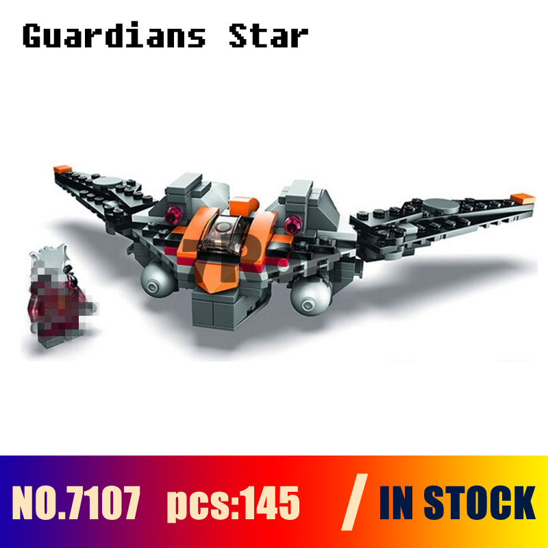 Compatible with lego Models building kits 7107 145pcs Guardians Of The Galaxy Rocket Star Fighter Building Blocks toys & hobbies