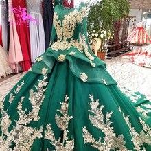 AIJINGYU תחרה חתונה שמלת וינטג פתוח חזרה שמלות 2 ב 1 אפור סקסי יבול למעלה 3D כלה שמלת חנויות תקציב חתונה שמלות