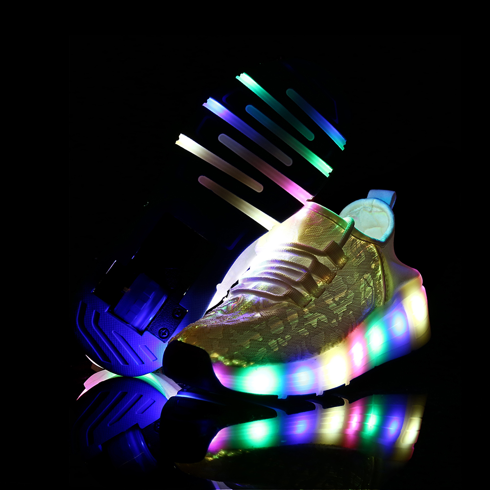 Adults SIZE 28-40 New Summer wheel Led Fiber Optic Shoes for girls boys men women Recharge glowing Sneakers Man light up shoes size 25 46 fiber optic backlight led shoes for girls boys men women new usb charging luminous sneakers glowing light up shoes