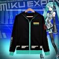 Edición limitada Hatsune Miku Vocaloid Hoodies camiseta de la capa animación Cosplay Unisex ropa chaqueta informal