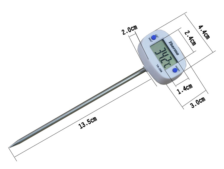 1PCS Digital Food Thermometer for Water Milk and BBQ Meat with 180 degrees Adjustable Head 9