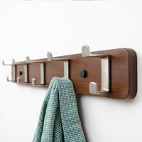 Creative Wall Bamboo Hanging Double Hook Wall Hanger European Style Hanging Clothes Racks Hook Sitting Room
