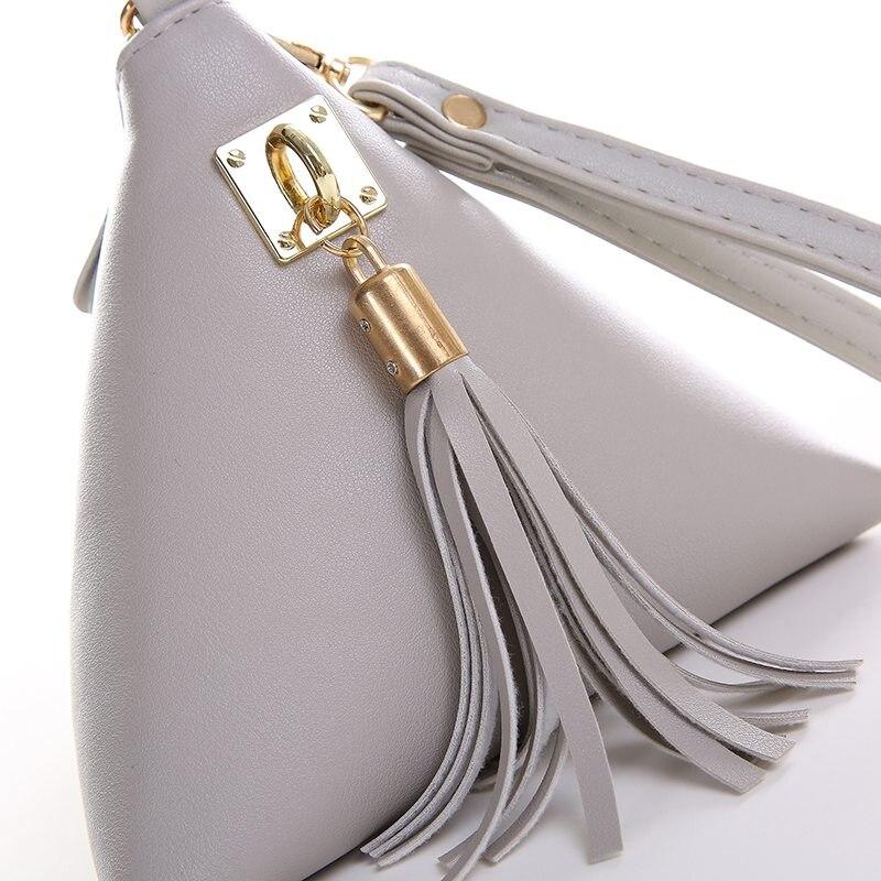 Vogue Star Fashion Mini Tassel Clutch Leather Bag Designer Purse Famous Brand Women Fringe Handbag Evening Bolsa Ls453 In Top Handle Bags From Luggage