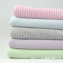 2015 One meter  baby clothes, cotton cloth bib coated knitted fabric color stripe bedding retal and wholesalei