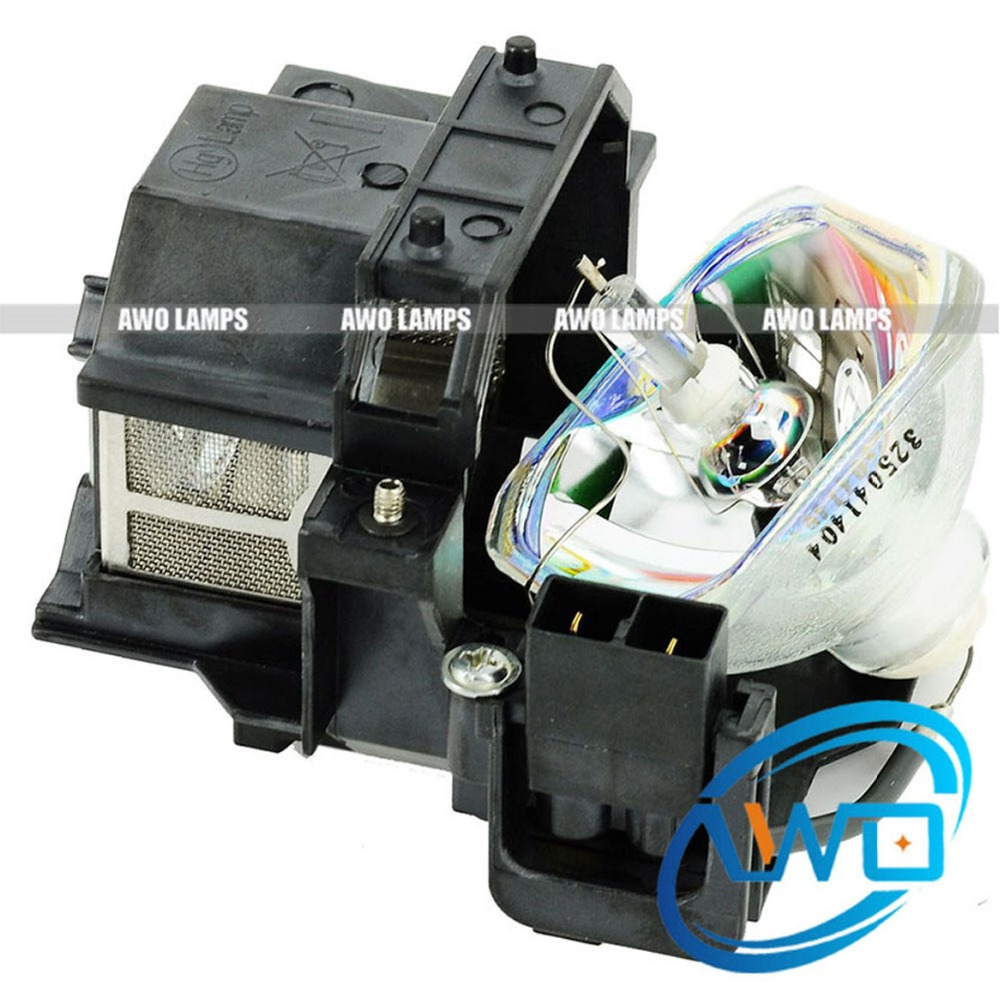 AWO Replacement Projector Lamp ELPLP41 V13H010L41 with Housing for EPSON EB-S6/S62/S6LU/TW420/W6/X6/X62/X6LU / EH-TW420/ EMP-260