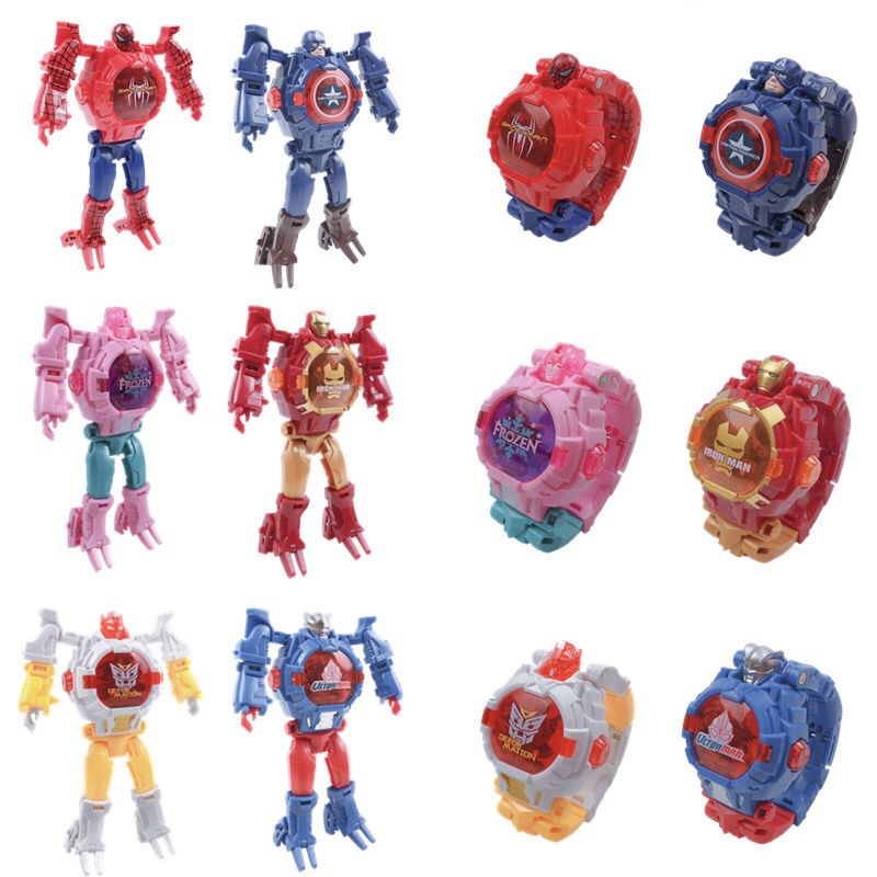 Deformation Robot Action Transformation Children Watch Boy Girl Toy Electronic Kids Watches Creative Baby Gifts Educational Toys