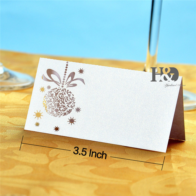 12pcs white laser cut paper flower name place cards wedding table card seat card for wedding favors cards u0026 invitations from home u0026 garden on