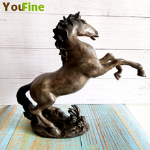 Art Nouveau Brass Chinese Horse Statue Standing Horse Statue Art Sculpture Statue Animal Pony Sculpture Bronze Home Decoration ag0003 argentina 2012 leo gallegos municipal committee statue horse stamp 1 new 1120