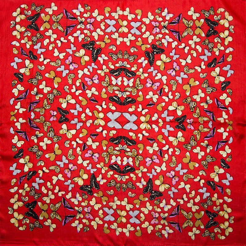 100% シルクスカーフ女性蝶スカーフ絹のバンダナ 2019 トップホット販売プリントスモールスクエアシルクスカーフ高級ギフト女性のための