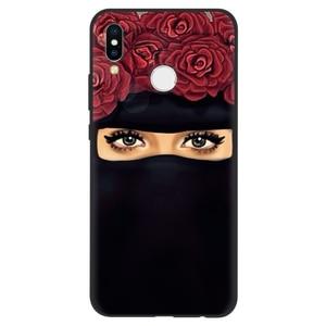 Image 2 - Muzułmanin islamski Gril oczy arabski hidżab dziewczyna Case dla Huawei P inteligentny 2019 P30 P20 Mate 20 10 Lite Pro P9 P8 P10 Lite 2017 silikon