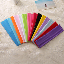 European and American style womens yoga hair band sports headscarf stretch breathable solid color