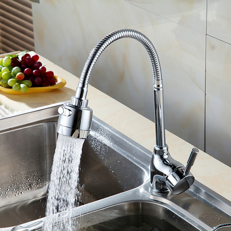 Rotating Kitchen Water Tap Universal Kitchen Sink Faucet 3 Way Hot Cold Water Mixer Tap Rotatable Washbasin Taps Saving Tap