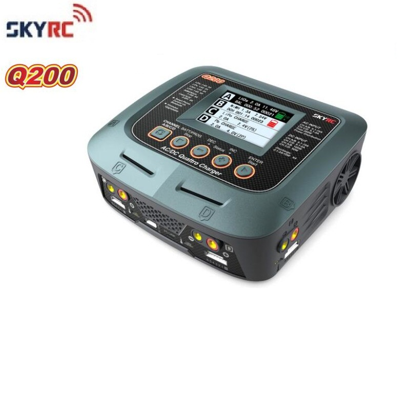 SKYRC Q200 1 To 4 Intelligent Charger/Discharger AC/DC For Lipo/LiHV/Lithium-iron/Lithium Ion/NiMH/NiCD/Lead-acid Battery