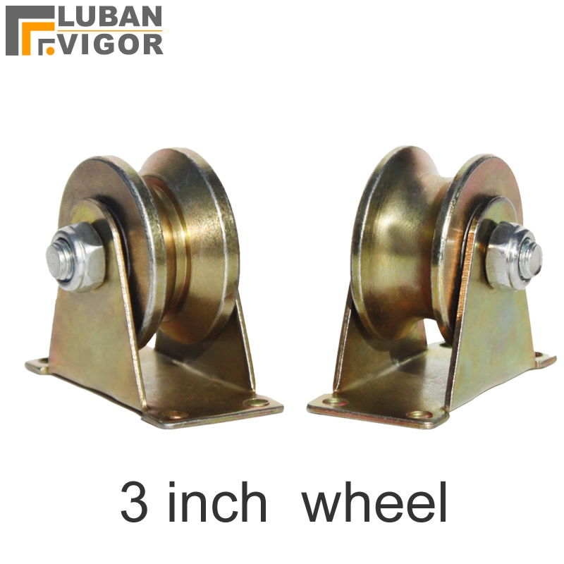 Rational Bearing 500kg,3 Inch Cast Steel Track Wheel,with Bearing,stable,durablefor Sliding Door/ Lifting Pulley,industrial Hardware Comfortable And Easy To Wear