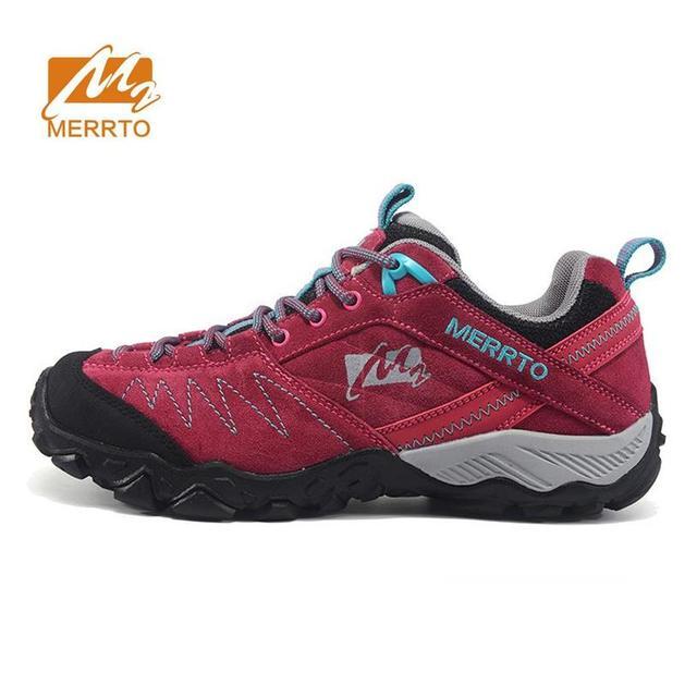MERRTO wanita Bulu Kulit Luar Hiking Sepatu Sneakers Wanita Olahraga Mendaki  Gunung Sepatu Trekking Wanita Outventure b55da85744