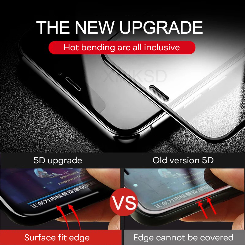 US $1 49 25% OFF Aliexpress com : Buy 5D Curved Full Cover Screen Protector  Tempered Glass For iphone XR 6 S 7 Plus Protective Glass On For iPhone XS