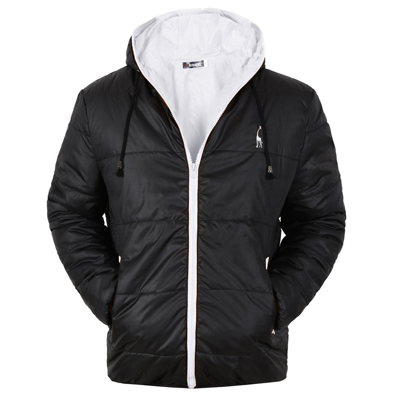 GustOmerD Brand Waterproof Winter Coat Men Casual Hoodied Cotton Padding   Parka   Men Clothing Deer Embroidery Winter Jacket Men