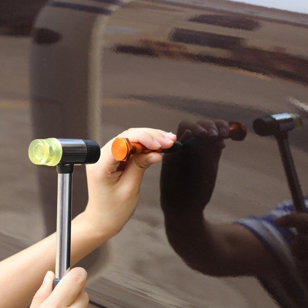 PDR инструменты для удаления вмятин безболезненный набор инструментов для удаления вмятин набор инструментов для ремонта автомобиля отражатель вмятин Съемник присоски клеевые вкладки - 6