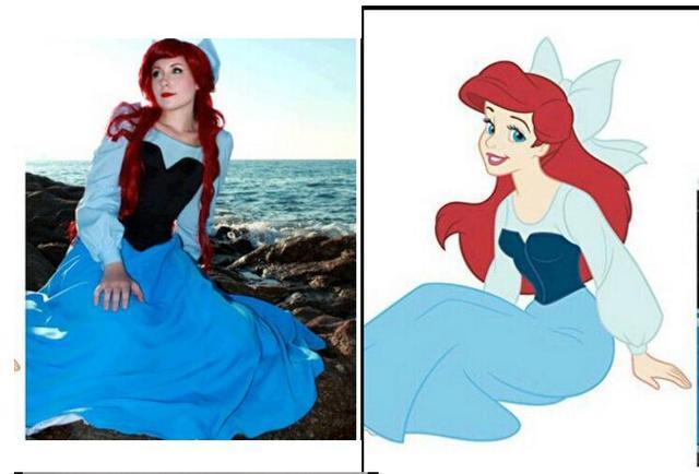 fantasia ariel the little mermaid dress women adult blue