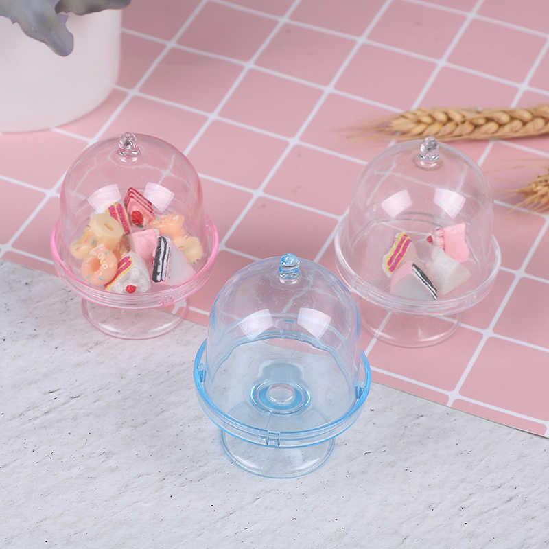 1pc 3D miniaturowe jedzenie DIY Craft dla Dollhouse mini deser Pan ciasto stojak taca na owoce lalki kuchenne zabawki