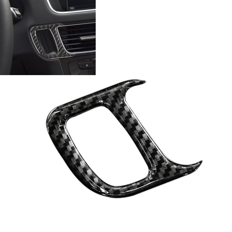 For Audi Q5 2009 2010 2011 2012 2013 2014 2015 2016 2017 Carbon Fiber Car Engine Start Key Hole Frame Cover-in Interior Mouldings from Automobiles & Motorcycles
