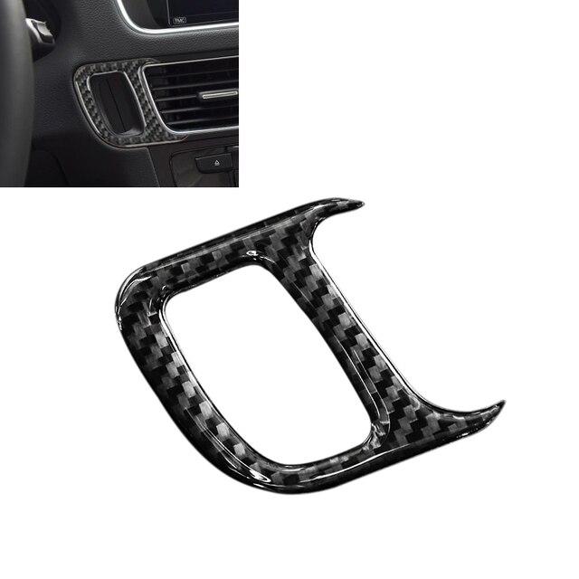 עבור אאודי Q5 2009 2010 2011 2012 2013 2014 2015 2016 2017 סיבי פחמן רכב מנוע להתחיל מפתח חור מסגרת כיסוי