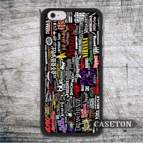 Many Music Bands Case For iPhone 7 6 6s Plus 5 5s SE 5c and For iPod 5 Classic High Quality Ultra Phone Cover Wholesale Retail