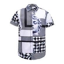 Seestern marca nueva ropa Avatar hombres Vestido de manga corta moda party  club blusa hombres nightclub camisas Ángel 72c8f449af0