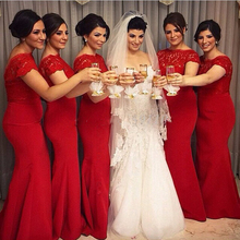 Lace Bridesmaid Dresses Long Mermaid Wedding Party Dress for Cheap New 2017 Satin Appliques Backless Bridesmaid Gown with Sleeve
