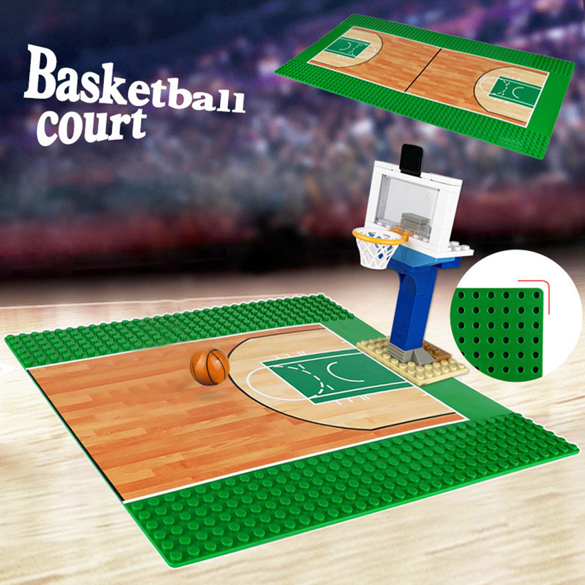 Single Base Legoeds <font><b>32x32</b></font> Dots Base Plate Football Basketball <font><b>Baseplate</b></font> For Figure Play Building Block Kits Toys for Children image