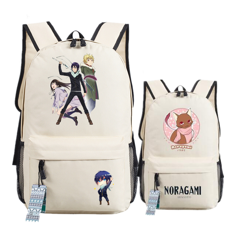Noragami ARAGOTO YATO Nora COS Printing Backpack Mochila Feminina Canvas School Bags Oxford Unisex Harajuku Laptop Backpack