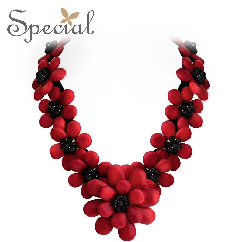 Special Brand New Fashion Flower Maxi Necklace Natural Onyx Necklaces & Pendants Statement Fine Jewelry for Women XL141148 - 6
